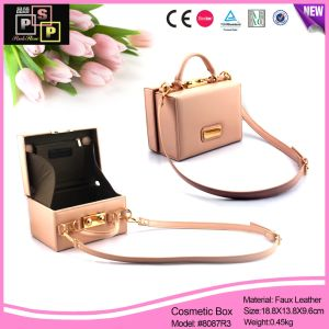 Lady Bag Shape PU Leather Vanity Case (8087) pictures & photos