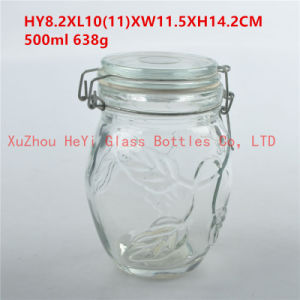 Glass Container Seal Glass Jar with Glass Lid 950ml pictures & photos