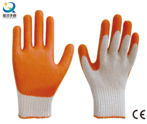 L017 Latex Palm Coated, Smooth Finish Work Gloves pictures & photos