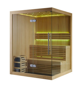 Rectangle 2-3 People Capacity Sauna Room with Finland Sauna Stove (M-6031) pictures & photos