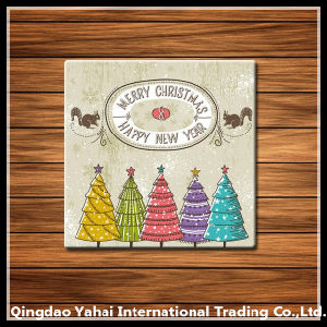 Christmas Series Tempered Glass Coaster pictures & photos
