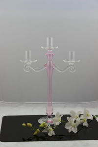 Glass Candle Holder for Home Decoration with Three Posters by SGS pictures & photos