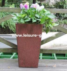 Fo-221 White Flower Pot with Fiberglass Material pictures & photos
