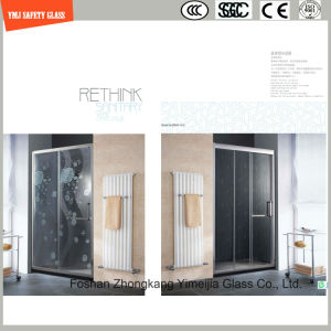 Silk Screening & Acid Etched Glass Shower Enclosure pictures & photos