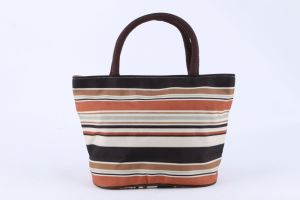 Fashion Promotional Lunch Bag Fashion Design Handbag Coffee Stripe pictures & photos