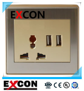 Excon Wall Socket with Double USB Socket pictures & photos