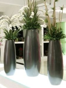 Fiberglass Vase for Garden and Home Decoration with High Quality Artfical Flower