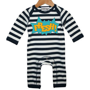 Black and White Stripes Newborn Baby Footie Pajamas pictures & photos