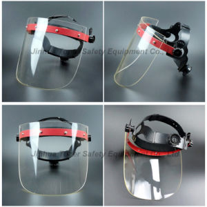 Face Shield with Acrylic Screen Ratchet Suspension Face Mask pictures & photos