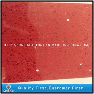 Artificial Red Quartz Stone with Mirror/Glass/Sparkles pictures & photos