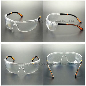 Wraparound Lens Ajustable Nylon Temples Safety Glasses (SG109) pictures & photos