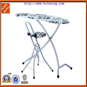 "16"" (w) X51"" (L) Metal Mesh Banana Shaped Ironing Board for Household Use (1651TQ1-32)"