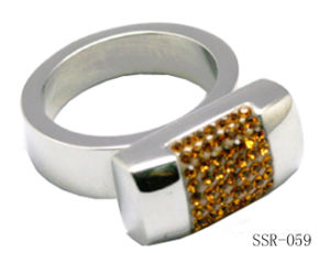 Yellow Rhinestone Ring SSR-059