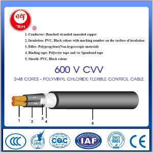 600V 1000V Flexible Conductor Armoured Control Cable with Cvv Type