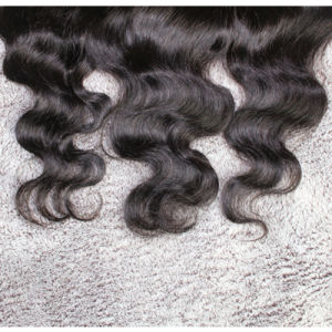 Body Wave 13*4inch Three Part Frontal Brazilian Hair Lace Frontal pictures & photos