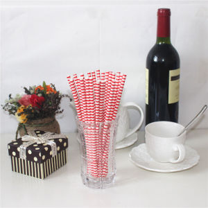 Hot Milkshake Juice Paper Straws with Double Colors pictures & photos