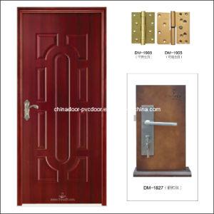 (PVC-M-024) Top Quality Wood Door Quickly Lead Time PVC Door