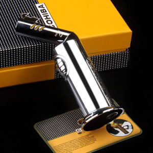 Cohiba Fashion Swivel Head Windproof Metal Torch Cigar Lighter (ES-CA-007) pictures & photos