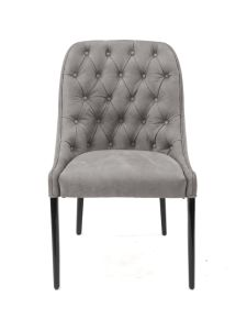 Nubuck Leather Chesterfield Dining Chair pictures & photos