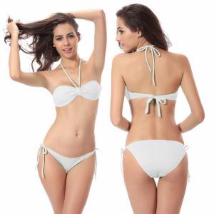 Cross Line 2 Pieces Women′s Sexy Bikini Bandeau Wireless Beachwear Swimsuit pictures & photos