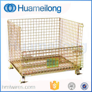 Foldable Stackable Steel Warehouse Cages pictures & photos