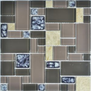 Glass and Ice Crack Ceramic Mosaic Mix for Swimming Pool pictures & photos