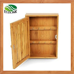 Bamboo Key Holder / Hooks Storage Cabinet pictures & photos