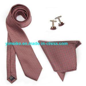 Wholesale Custom Logo Handmade Checkered Tie Handkerchief Cufflink Gift Necktie Sets pictures & photos