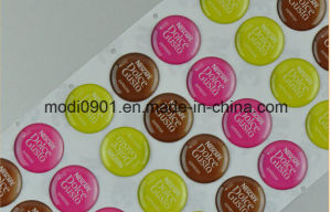 Dome Resin Epoxy Label Sandy Aluminum Label Printed and Embossed Logo with 3m Adhsive, Epoxy Sticker pictures & photos
