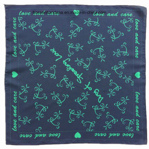 China Factory OEM Produce Custom Logo Print Satin Furoshiki Wrapping Cloth pictures & photos
