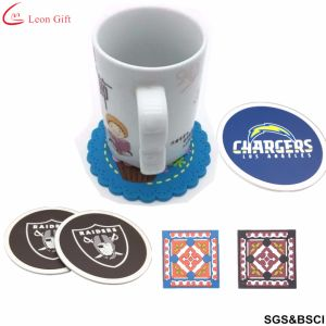 Factory Custom Logo Advertising Promotion PVC Rubber Coaster pictures & photos