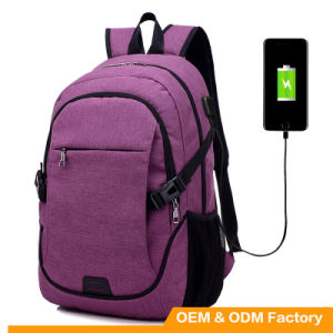2017 New Arrival High Quality Waterproof USB Backpack Laptop Backpack with USB Cable pictures & photos