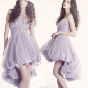 Purple Cocktail Prom Party Dress Short Evening Dress T921 pictures & photos