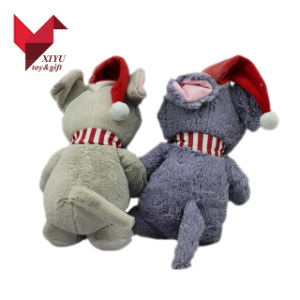 ICTI 30cm Stufffed Animal Teddy Bear Plush Toy with Red Hat pictures & photos