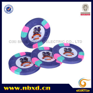 9.5g 3color Pure Clay M Engraved Sticker Chip (SY-C07-1) pictures & photos