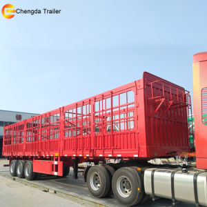 3 Axles 40t Fence Livestock Semi Trailer for Sale pictures & photos