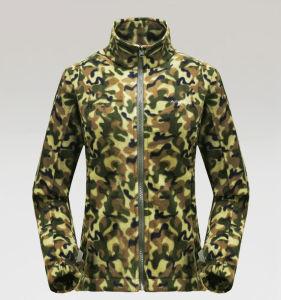 Women′s Fashion Camouflage Polar Fleece Jacket pictures & photos