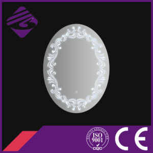 Jnh225 New Arrival Oval Bathroom Furniture Mirror with Clock pictures & photos