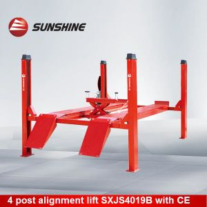 Four Post Alignment Lift with Pneumatic Rolling Jack (SXJS4019B)