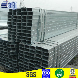 40X80mm Gi Welded Rectangular Construction Steel Pipe or Tube (JCGR-04) pictures & photos