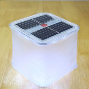 Inflatable Cube Solar Lantern with Power Indicator for Camping Hiking pictures & photos