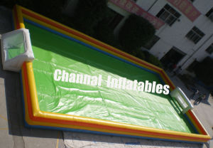 Inflatable Soap Football Field (CHSP156) pictures & photos