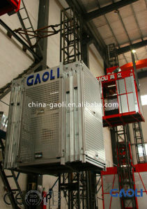 High Efficiency Single Carbin Construction Hoist with Frequency Electric Motor pictures & photos