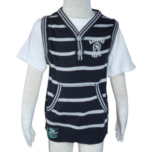 Spring New Style Kids Stripe Sweater Vest, Boy Vest, Children Vest