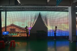 Flexible Tranparent LED Curtain Display P20 pictures & photos