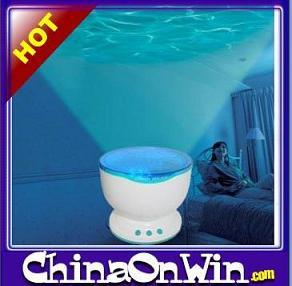 LED Ocean Wave Projector Pot With Speaker