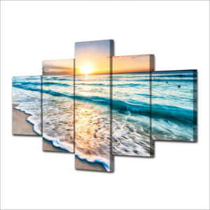 HD Printed Seascape Sunset Beach Sand Group Painting Canvas Print Room Decor Print Poster Picture Canvas Mc-058 pictures & photos