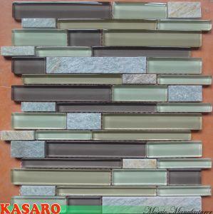 Marble Mosaic Mixed Glass Mosaic, Mosaic Glass Marble Tile (KSL6608)