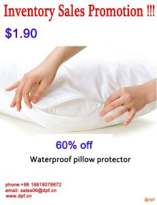 Waterproof Soft Terry Hotel Pillow Protector/Pillow Cover pictures & photos
