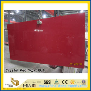 Beautiful Crystal Red Quartz Stone Slabs (YQ-1801) pictures & photos